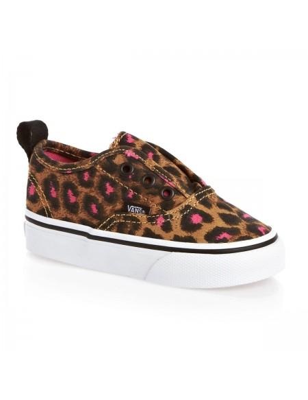 Vans Kids Authentic V (Leopard) Black/Magenta
