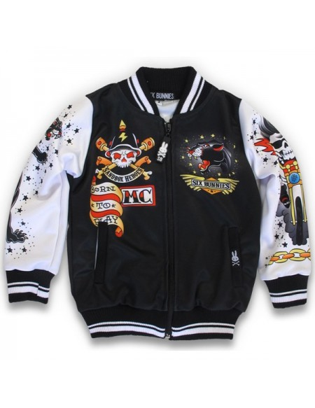 Six Bunnis Born to Play Bomber Jacket