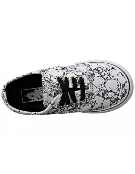 Vans Authentic (color me) Skulls/True White