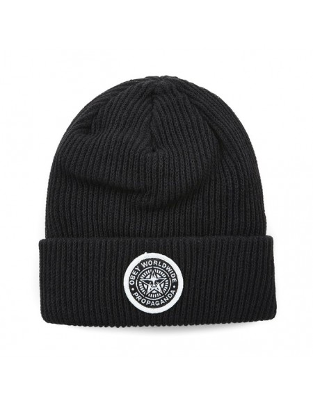 Obey Classic Patch Beanie Black