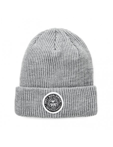 Obey Classic Patch Beanie Heather Grey